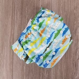 NWT Bumkins Baby Cloth Diaper All in one Crocs OS